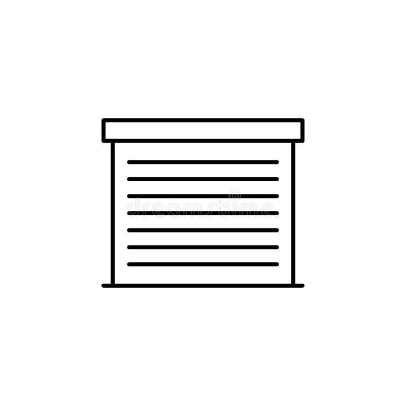 Garaje, icono del esquema del coche Puede ser utilizado para la web, logotipo, app móvil, UI, UX ilustración del vector