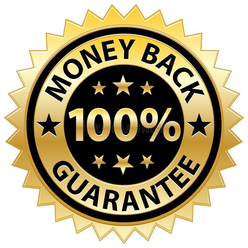 Garantía de la parte posterior del dinero stock de ilustración