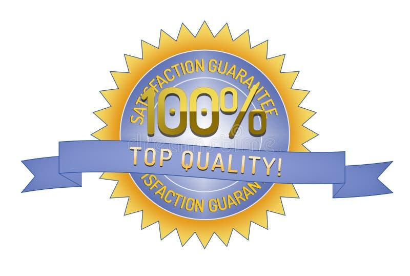 Garantía 100% de Satisftaction de calidad superior stock de ilustración
