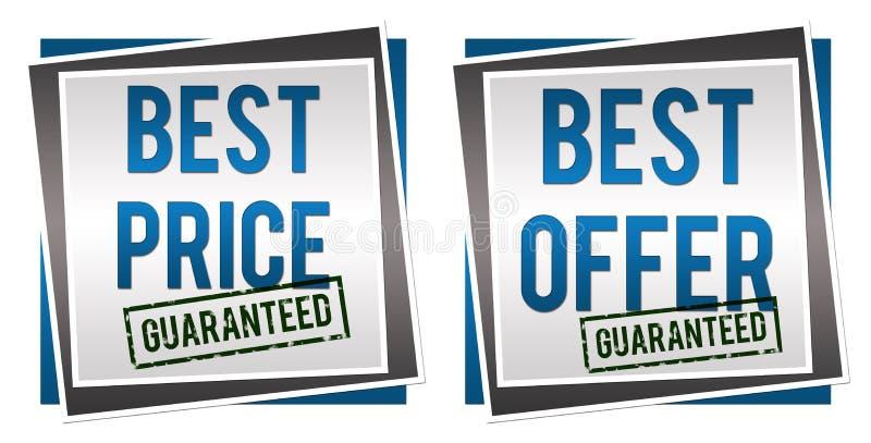 Garanterat bästa erbjudande för bästa pris stock illustrationer