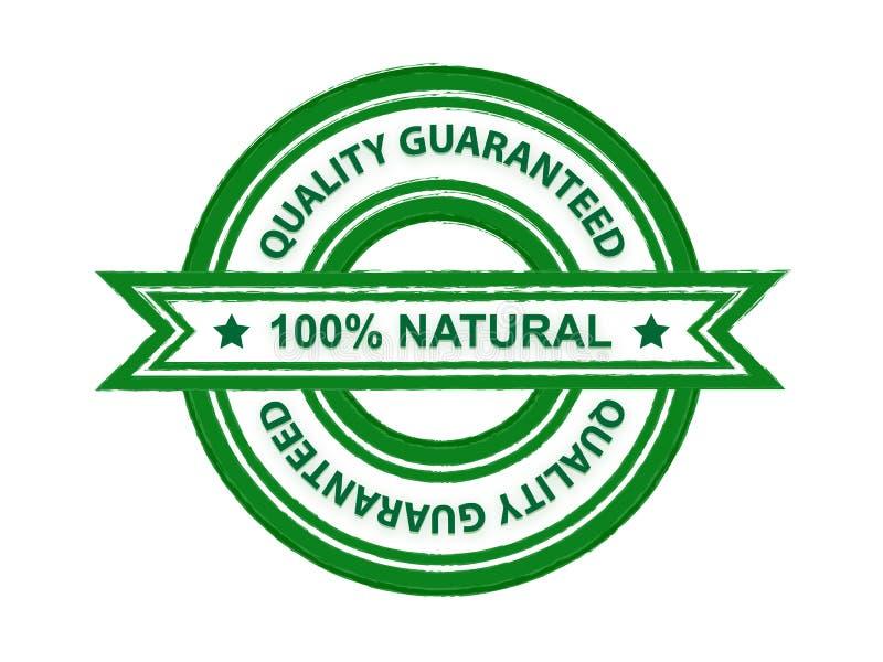 Garanterat naturligt för kvalitet stock illustrationer