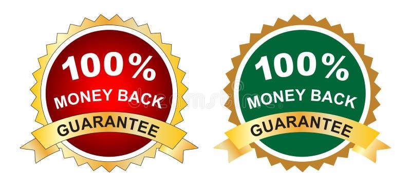 Garantia da parte traseira do dinheiro ilustração royalty free