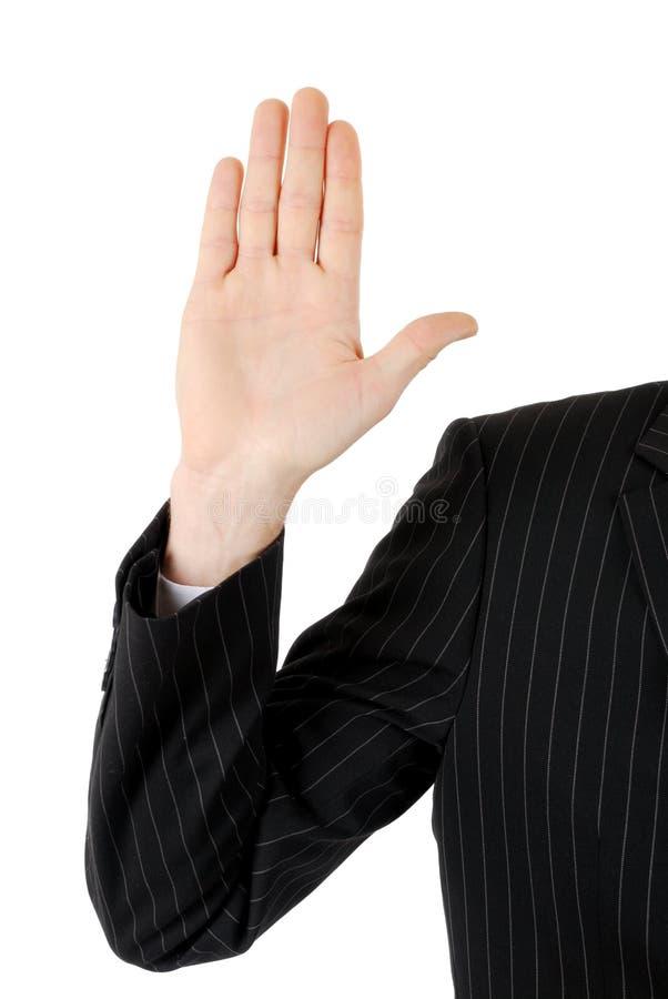 Garantia do homem de negócio foto de stock royalty free
