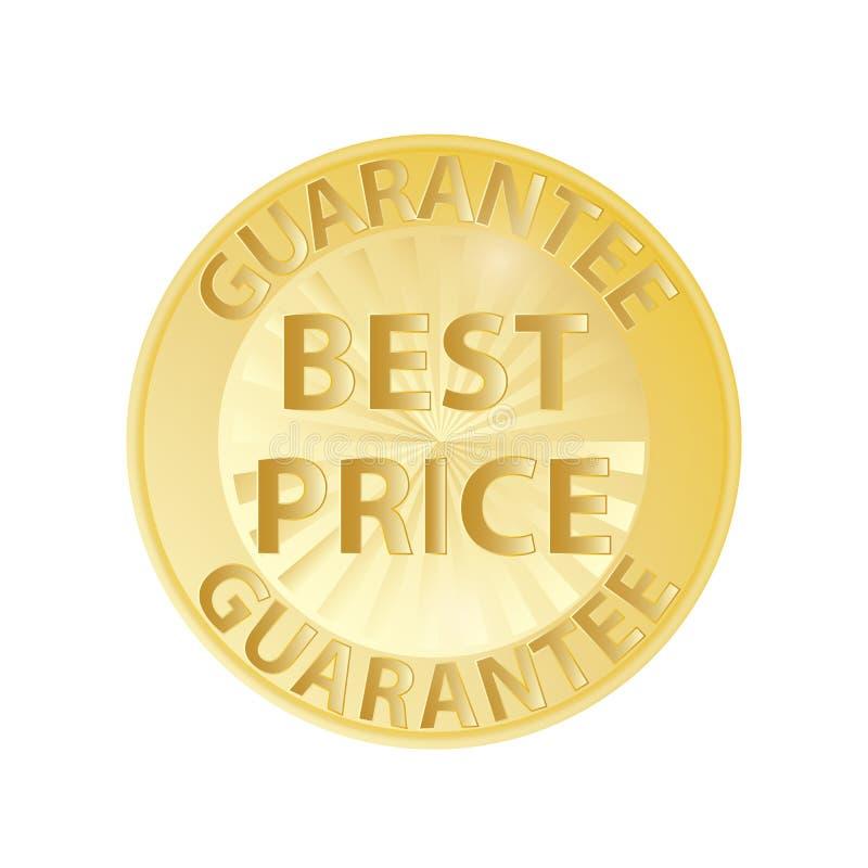 Garantia do preço do crachá do ouro a melhor ilustração royalty free