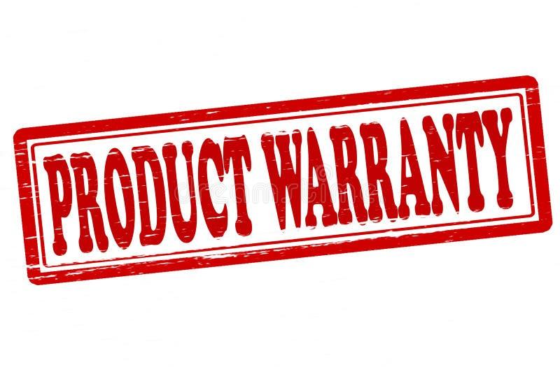 Garantia do produto ilustração stock