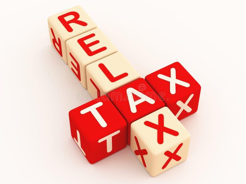 Garantia do tempo do imposto ilustração stock