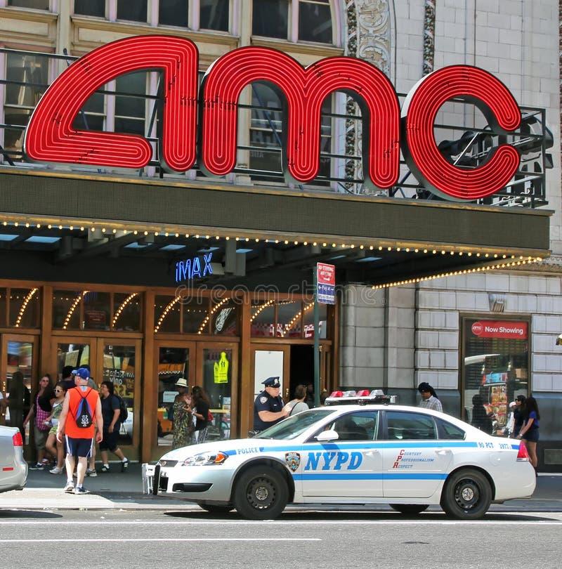 Garantie à la salle de cinéma d'AMC photo stock