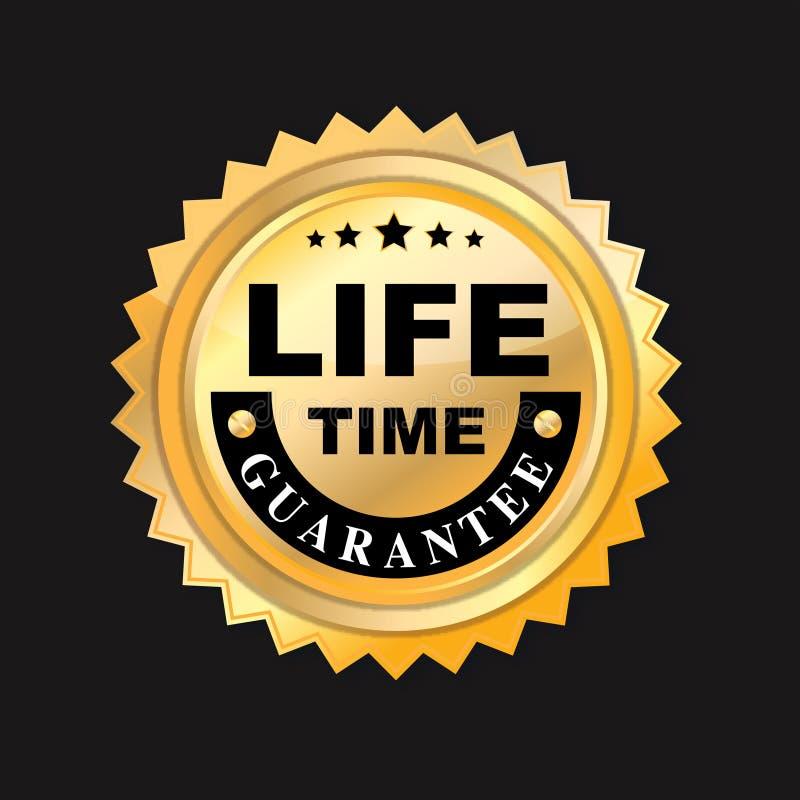 Garantie à vie. illustration de vecteur