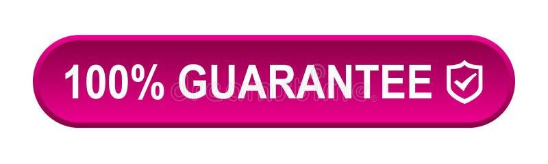 Garantie 100 % illustration libre de droits