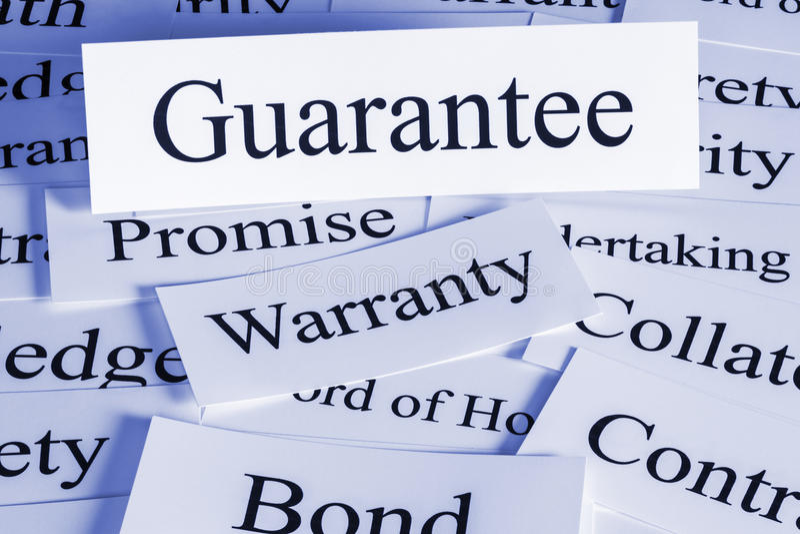 Garantie lizenzfreies stockfoto