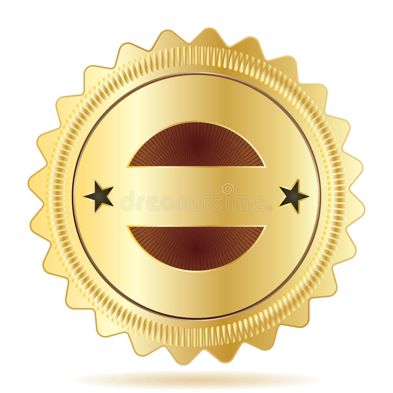 Garantie-Abzeichen-Schablone lizenzfreie abbildung