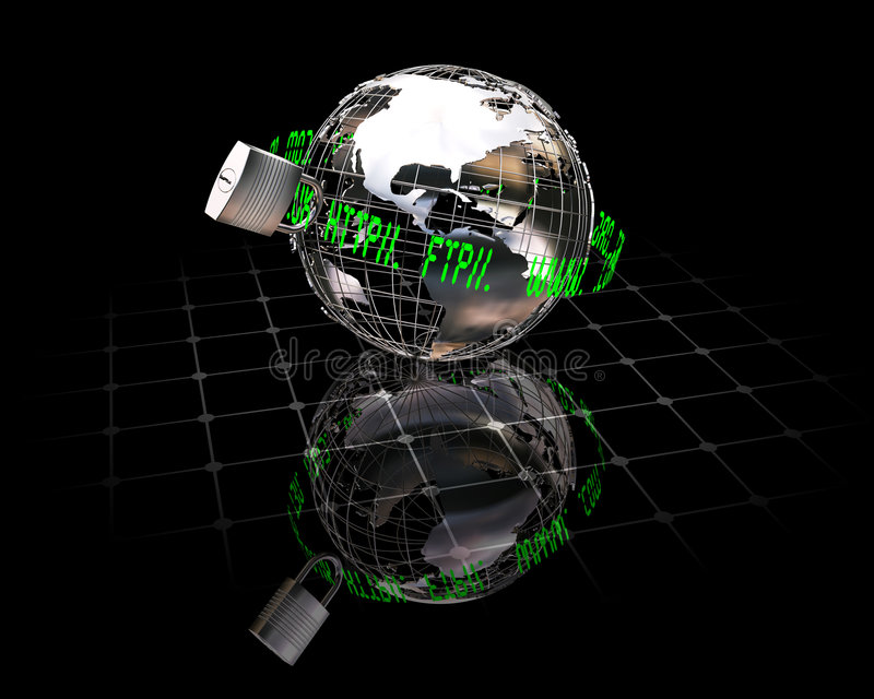 Garantie d'Internet illustration libre de droits