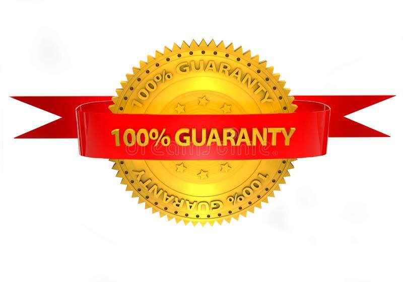 garantie 3d 100 precent sur un fond blanc illustration de vecteur