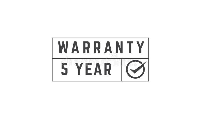 Garantie de 5 ans illustration de vecteur