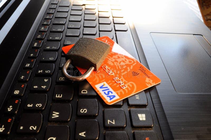 Garantie de carte de crédit image libre de droits