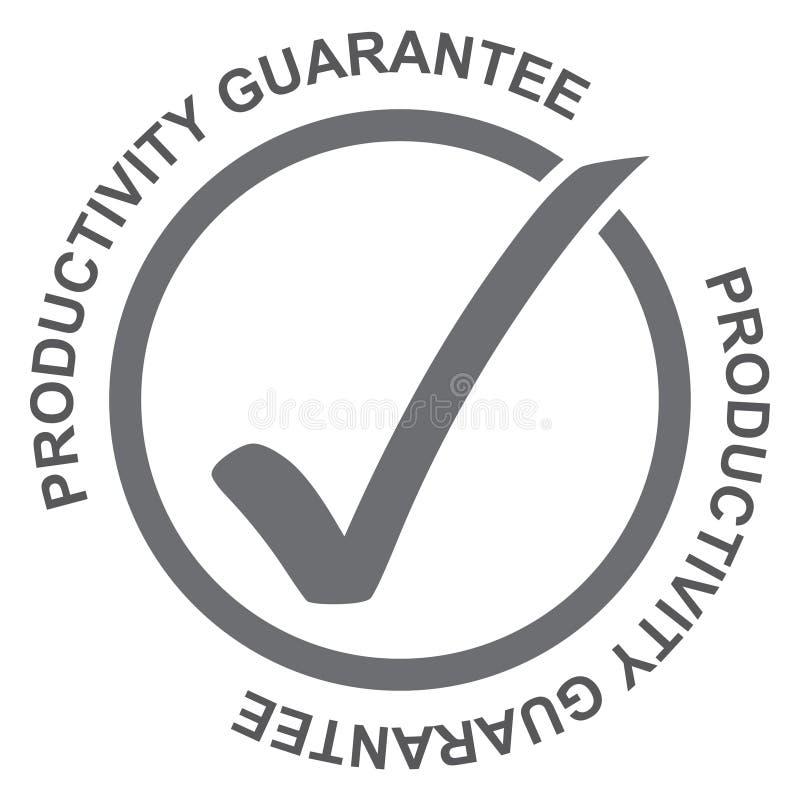 Garantie de productivité illustration stock