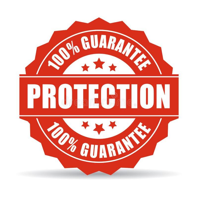 garantie de 100 protections illustration stock