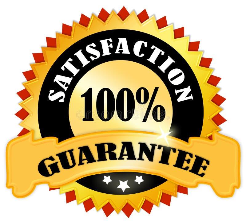 Garantie de satisfaction illustration de vecteur