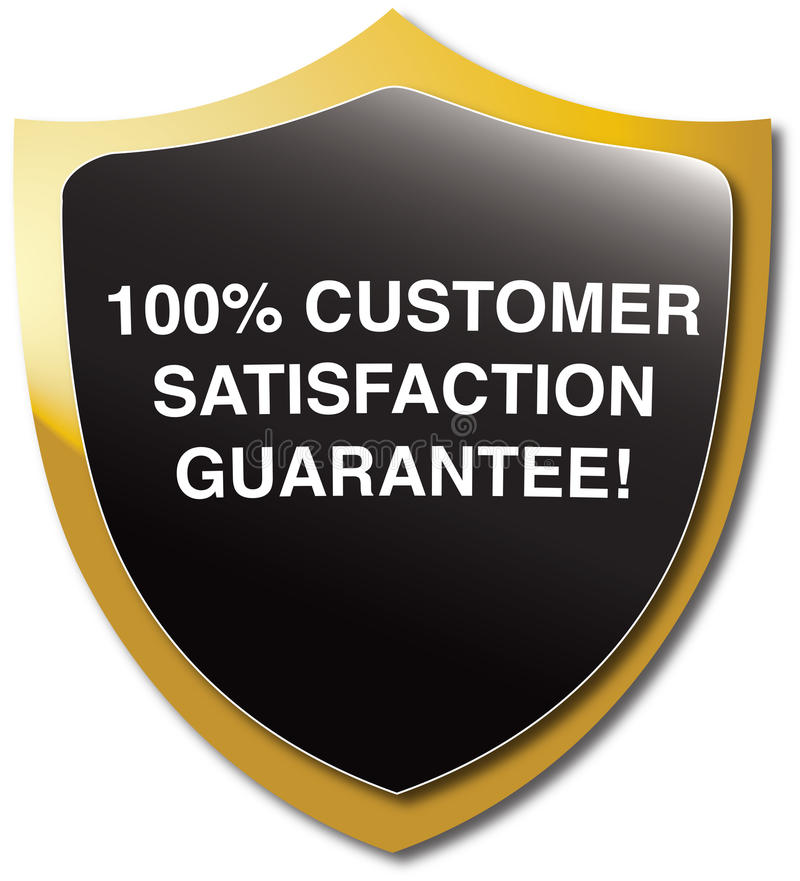 Garantie de satisfaction du client illustration stock