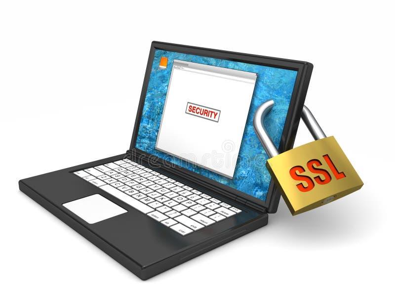 Garantie de SSL d'ordinateur illustration libre de droits