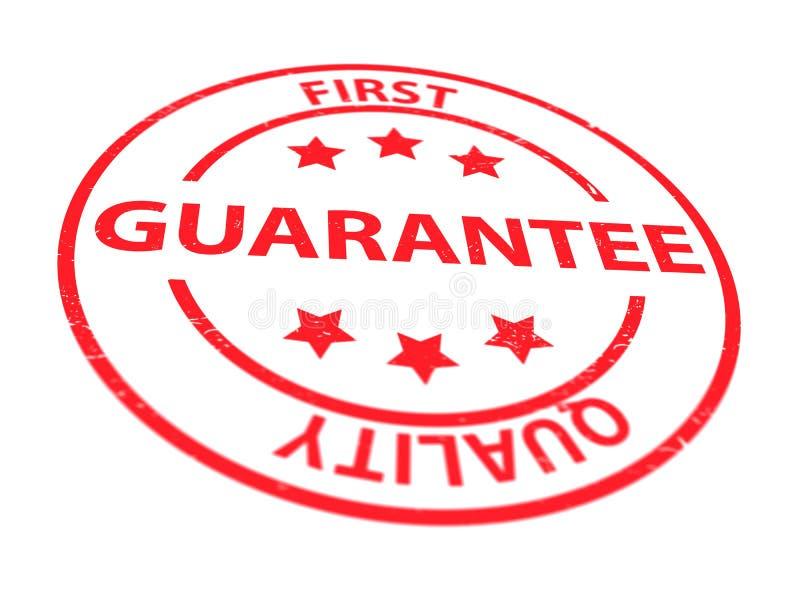 Garantie der besten Qualität stock abbildung