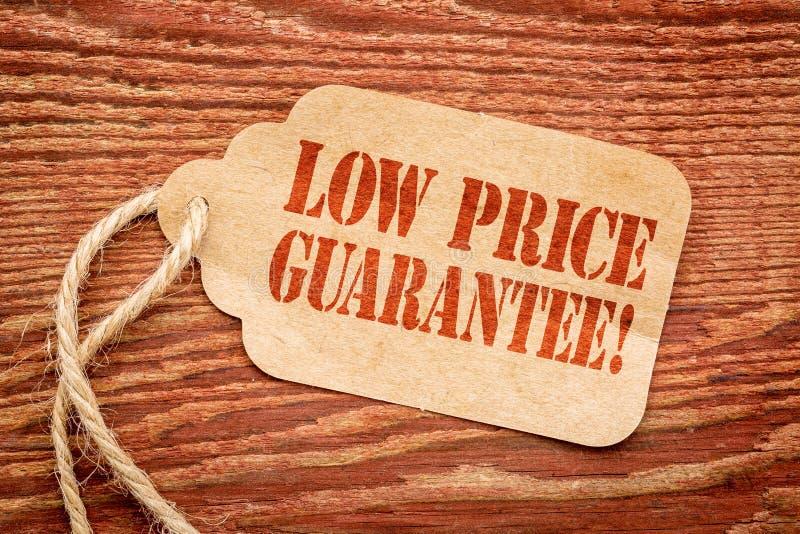Garantie des niedrigen Preises auf Papier-Preis stockbilder