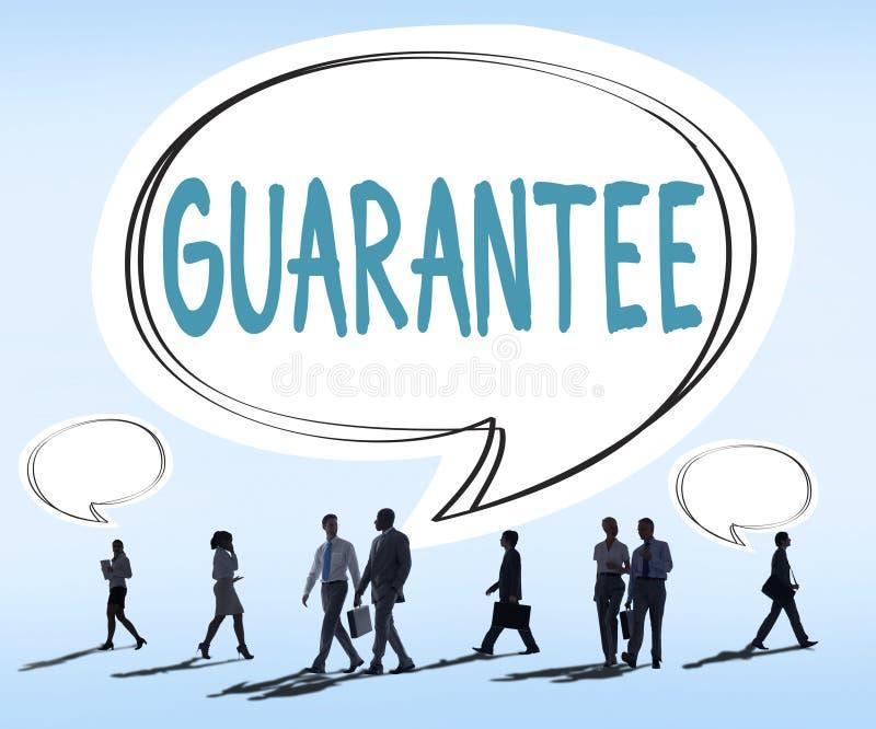 Garantie-Garantie-Zufriedenheit fördert Kunden-Konzept lizenzfreie stockbilder
