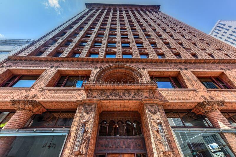 Garantie-Gebäude - Büffel, New York stockbilder