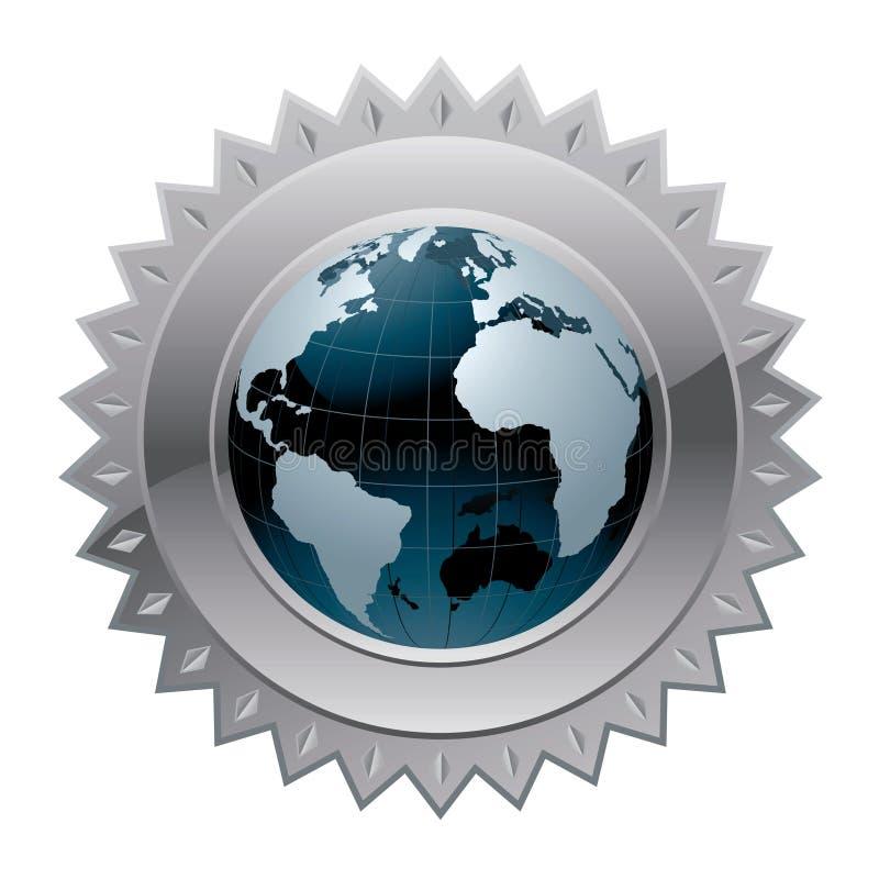 Garantie globale du monde illustration de vecteur