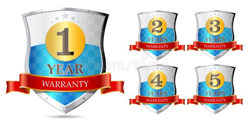 Garantie 1, 2, 3, 4, 5 jaar royalty-vrije illustratie