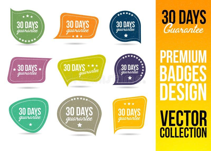 Garantie Logo Badge Emblem de 30 jours illustration de vecteur