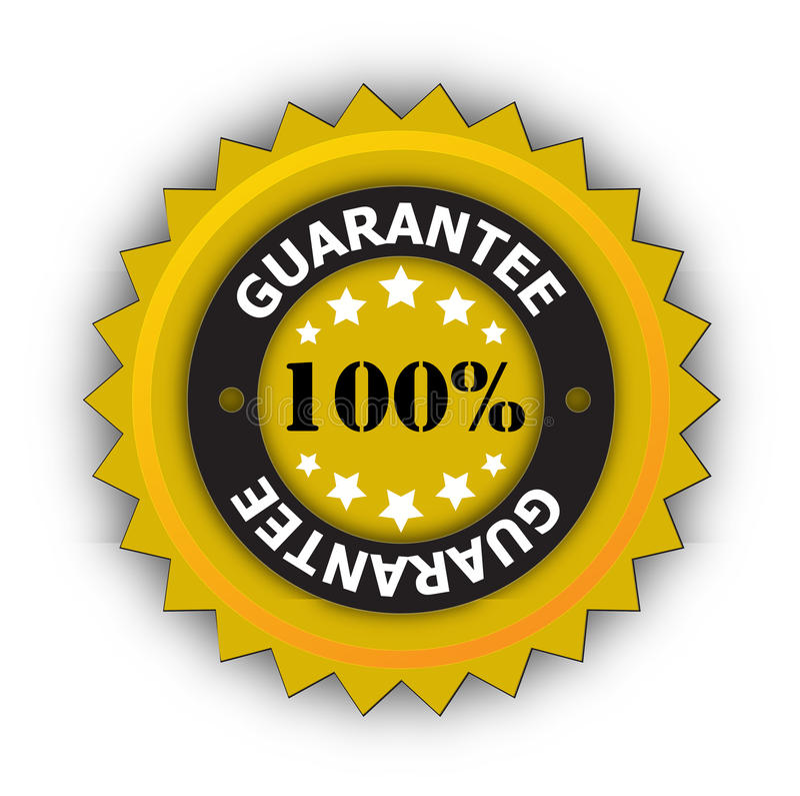 100% Garantieaufkleber vektor abbildung