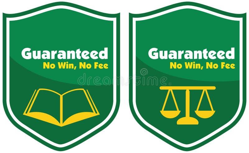 Garantierte keinem Gewinn, keinem Gebührenaufkleberausweis lizenzfreie stockfotos