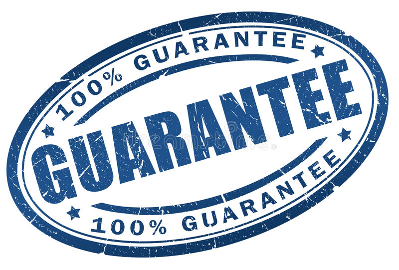Garantiestempel stock abbildung