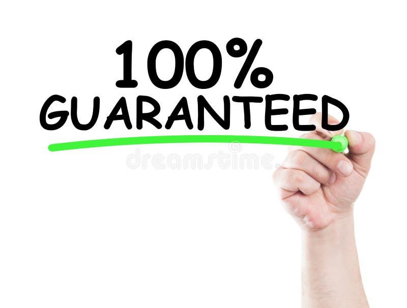 100 garantis photos stock