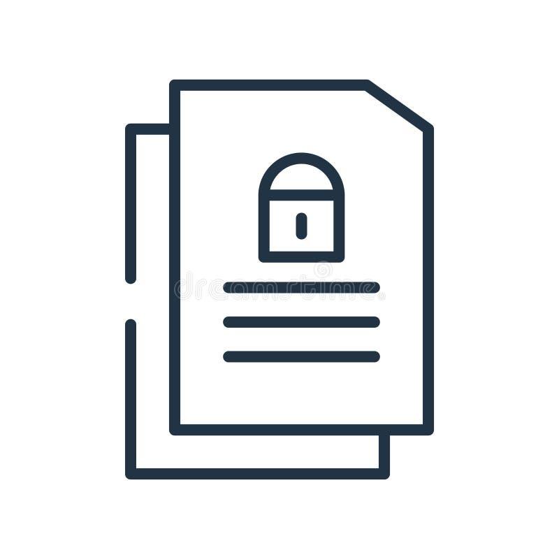 Garantissez le vecteur d'icône d'isolement sur le fond blanc, la garantie SI illustration de vecteur