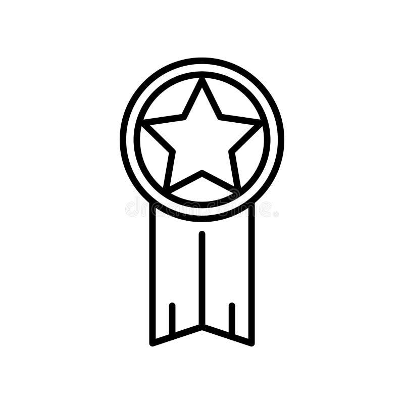 Garantisymbolsvektorn som isoleras på vit bakgrund, garanterar tecknet, den tunna linjen designbeståndsdelar i översiktsstil royaltyfri illustrationer