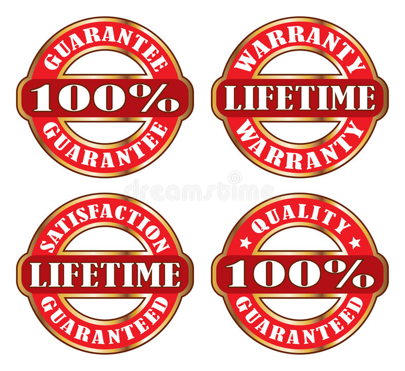 Garanzia di garanzia di soddisfazione di vita illustrazione di stock