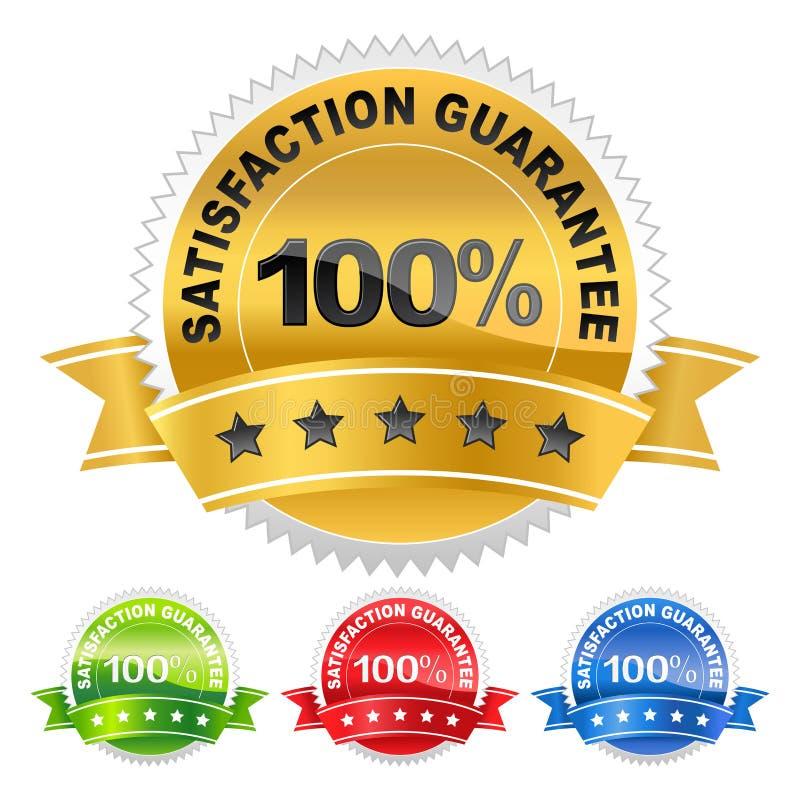 Garanzia di soddisfazione dell'etichetta illustrazione di stock