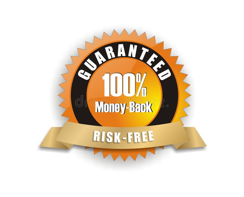 garanzia money-back arancione royalty illustrazione gratis