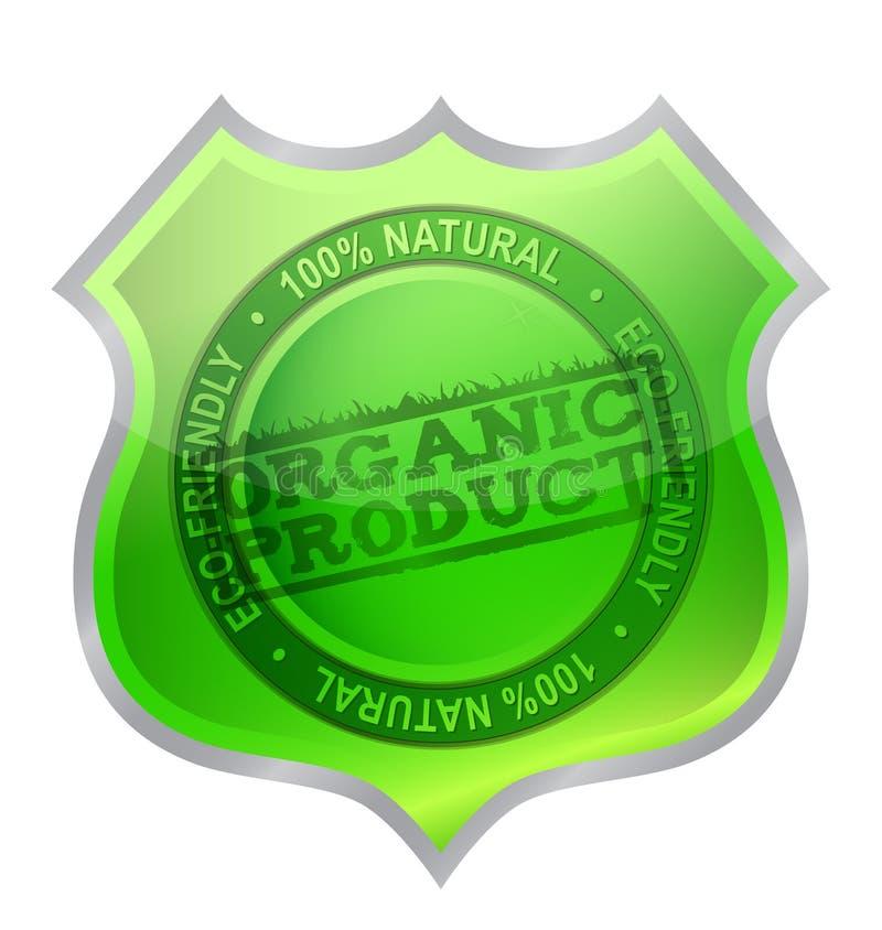 Garanzia organica dello schermo del prodotto royalty illustrazione gratis