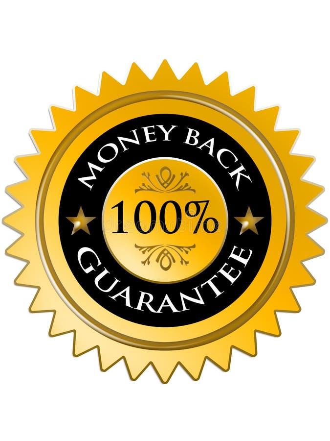 Garanzia posteriore 100% dei soldi illustrazione di stock
