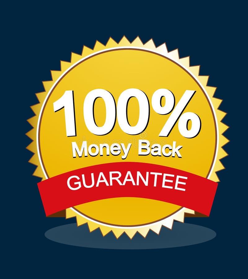 Garanzia soddisfatti o rimborsati illustrazione vettoriale