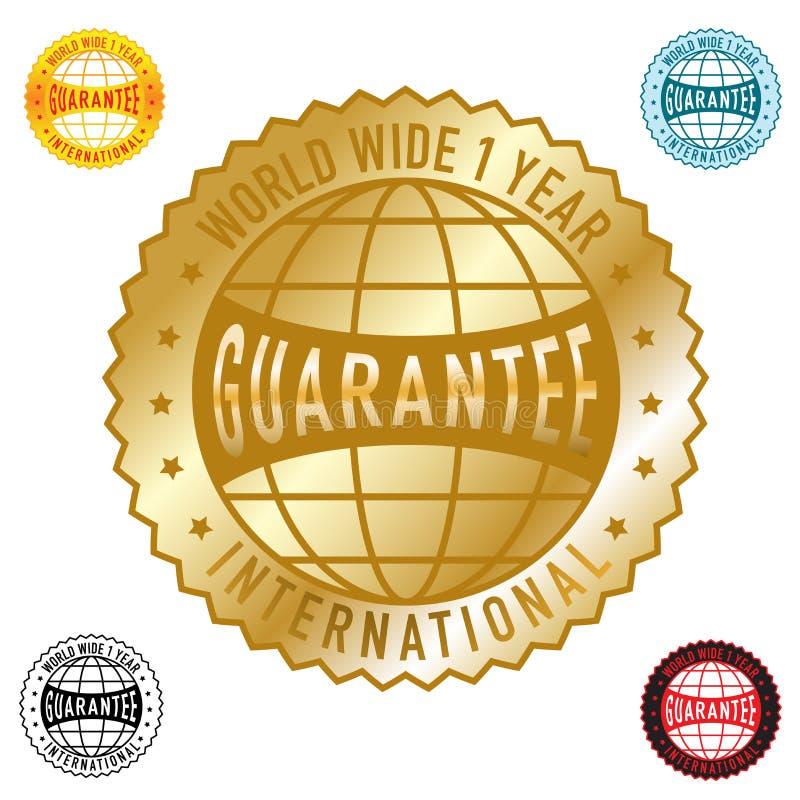 Garanzia in tutto il mondo 1year illustrazione vettoriale