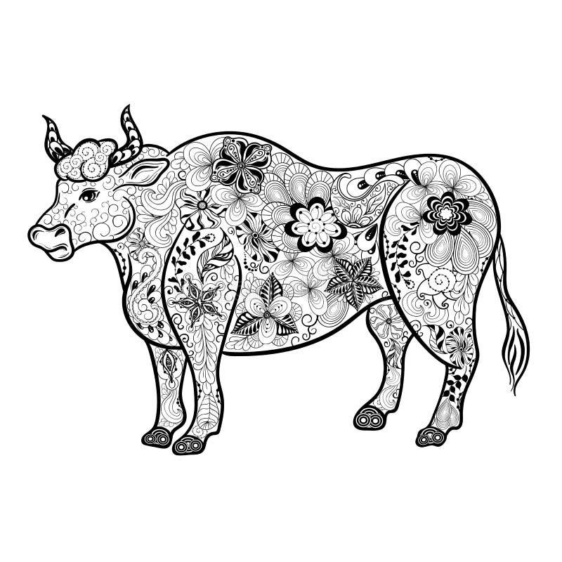 Garatuja de Bull ilustração do vetor