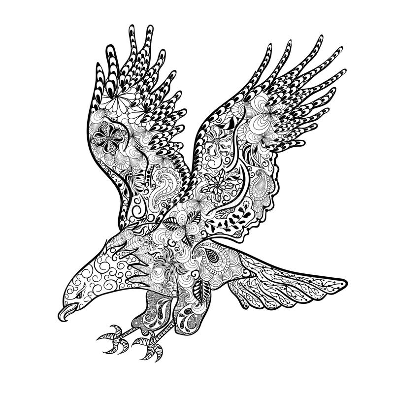 Garatuja de Eagle ilustração do vetor