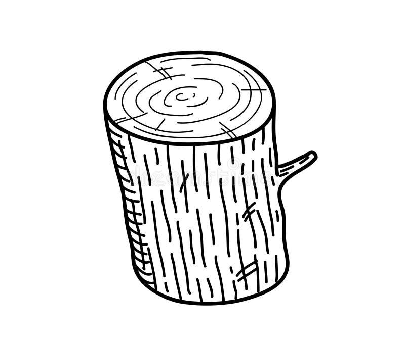 Garatuja de madeira do log ilustração stock