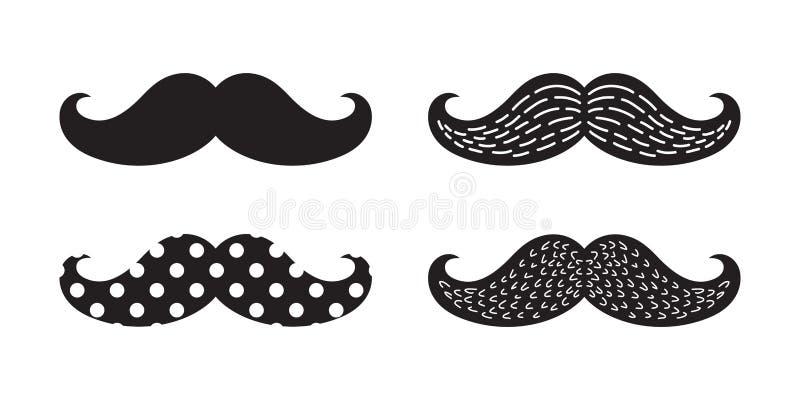 Garatuja do às bolinhas do caráter da ilustração do logotipo do ícone do vetor do bigode ilustração royalty free