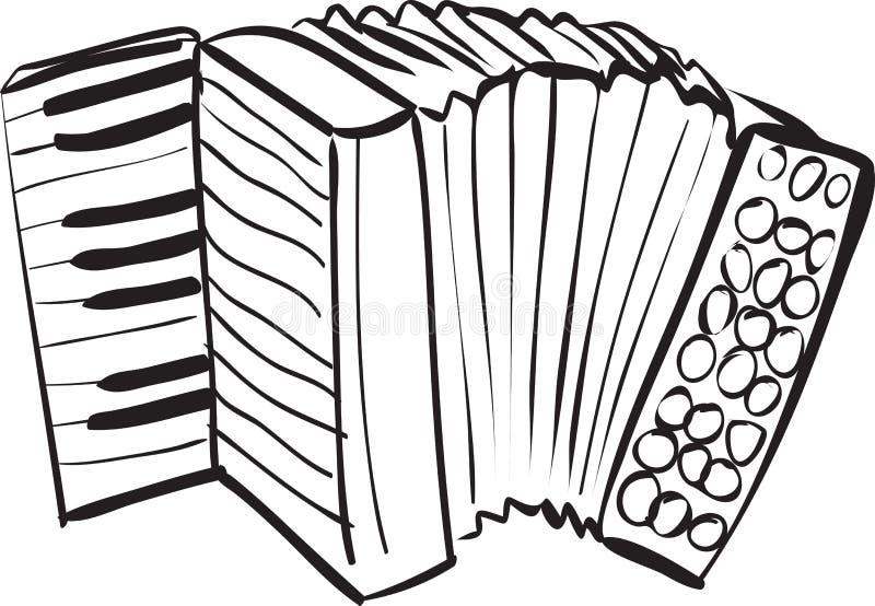 Garatuja do acordeão ilustração stock