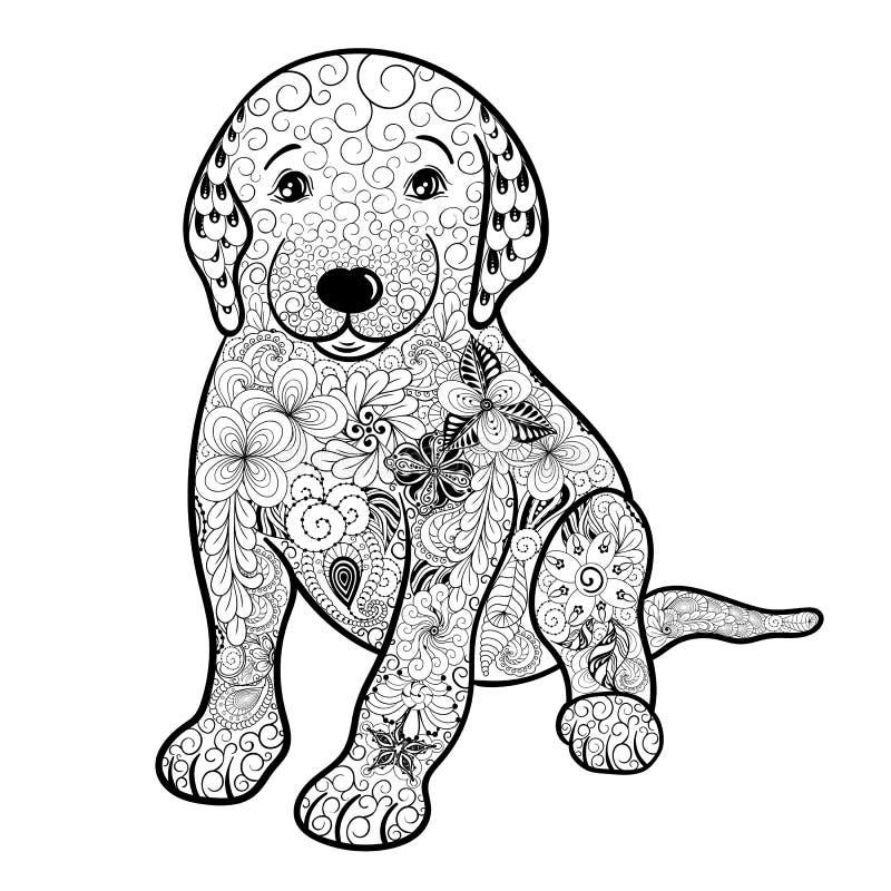 Garatuja do cachorrinho ilustração stock